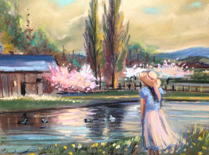 Pastel Romantic landscape - imaginart