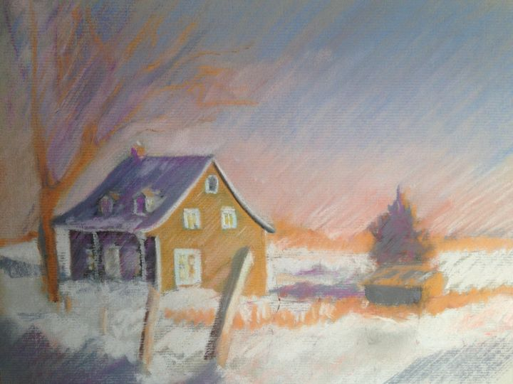 Canadian house in winter - imaginart