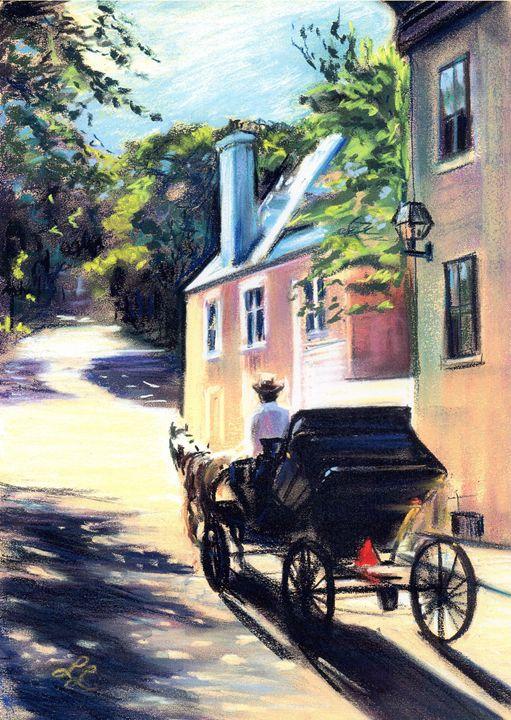 Coachman on rue d'Auteuil, Quebec - imaginart