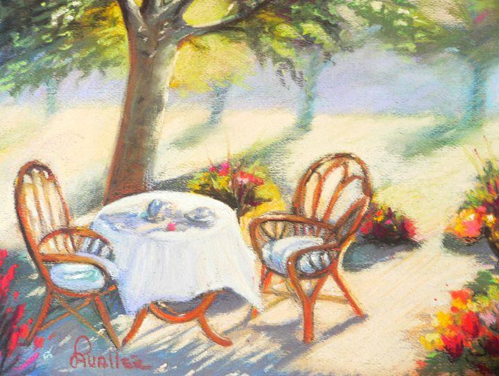 Morning tea in the garden - imaginart