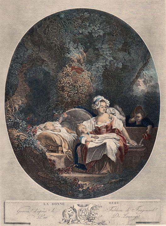 Antique Fragonard La Bonne Mère - imaginart
