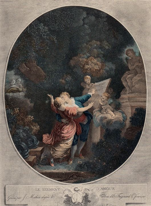 Antique Fragonard engraving - imaginart