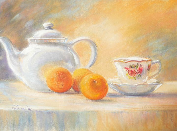 Tea and clementines - imaginart
