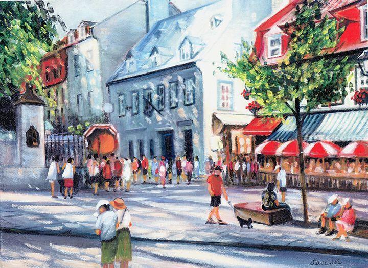Rue du Trésor Old Quebec - imaginart