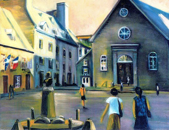 Notre-Dame-des Victoires Quebec - imaginart