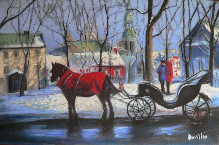 Winter ride Quebec City - imaginart