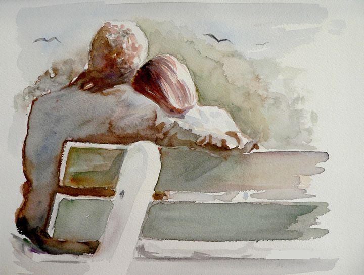 The lovers watercolor - imaginart