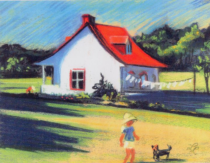 The red roof house - imaginart
