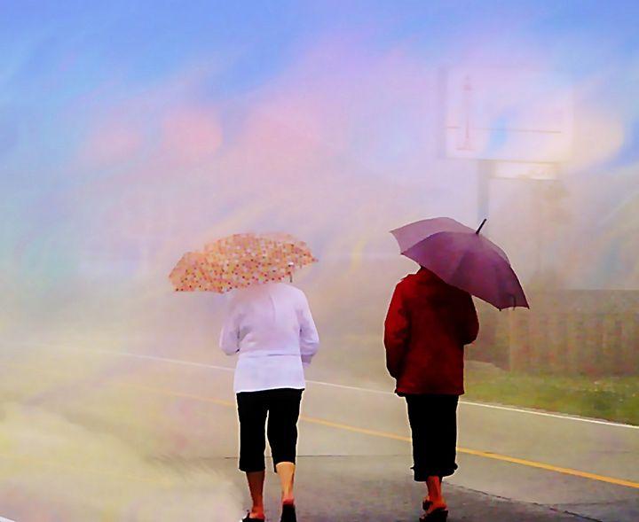 Sunny rainy foggy day - imaginart