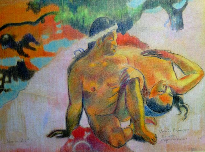 Colored pencil AFTER Gauguin - imaginart