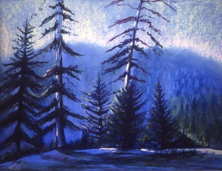 Forest in winter - imaginart