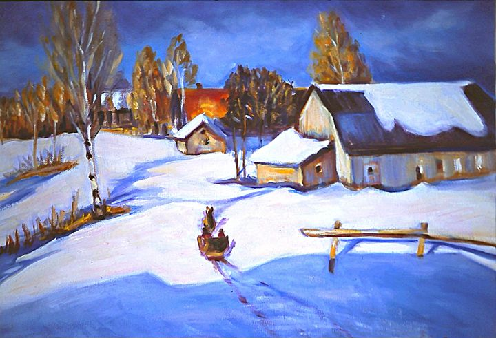 Old Winter scene - imaginart