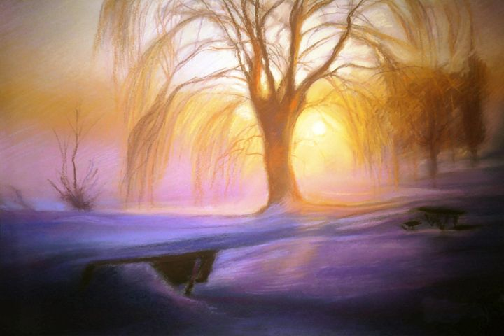 Weeping willow afternoon - imaginart