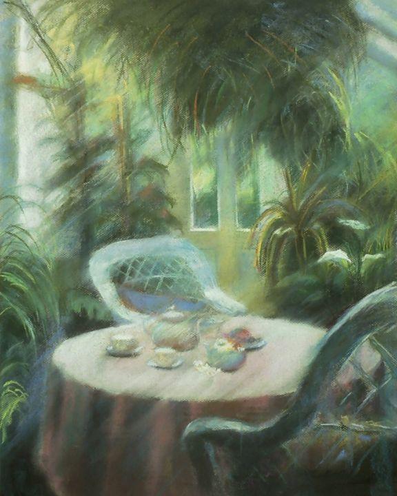 Tea in the greenhouse - imaginart
