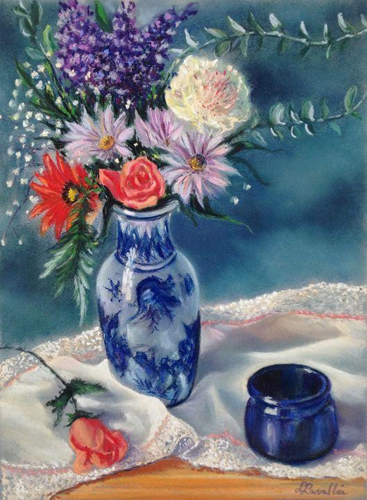 Romantic flower vase with a rose - imaginart