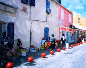Rue de Fort de France, Martinique - imaginart