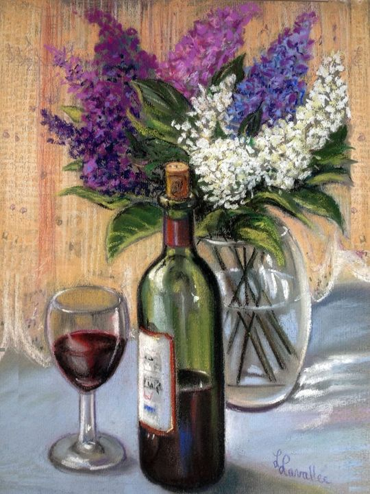 Red wine and lilac - imaginart