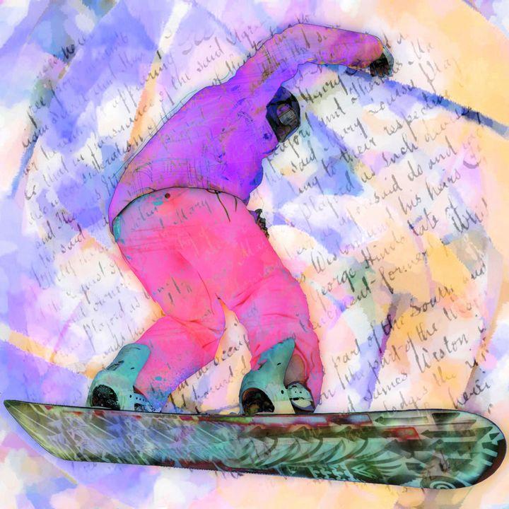 Winter Sport Girl - imaginart - Digital Art, Sports