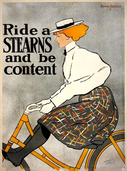 """""""Ride a Stearns and be content"""" - imaginart"""