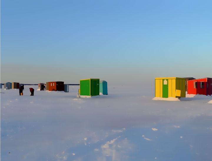 Ice fishing - imaginart