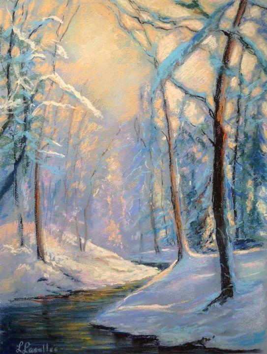 Light through the snowy woods - imaginart