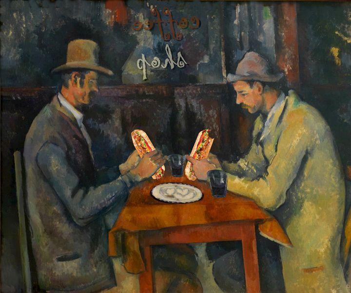 Cezanne's coffee shop - imaginart