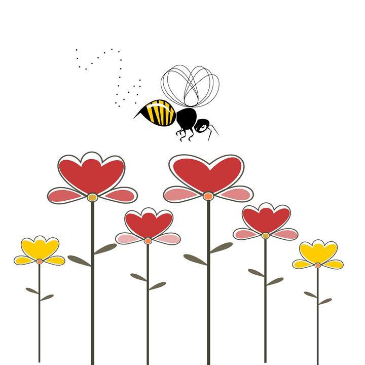 Bee in love! - imaginart