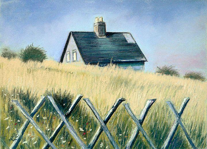 Little house in the wheat field - imaginart