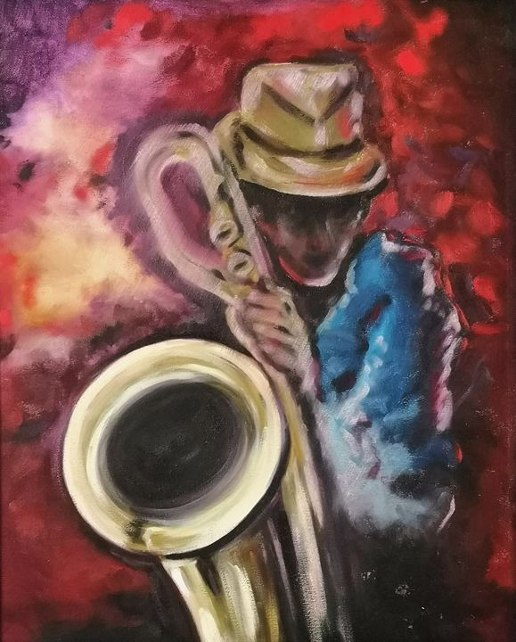 The Saxophonist - imaginart