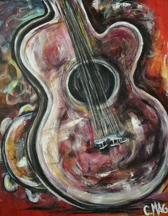 Guitar and tambourine - imaginart