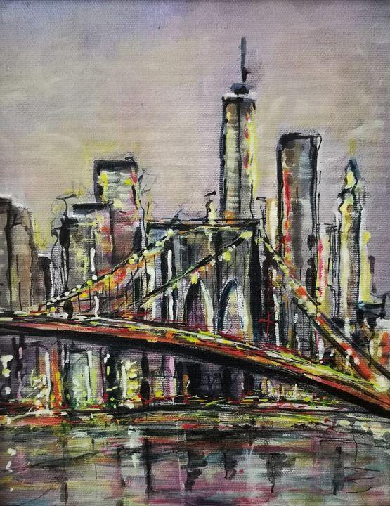 New-York Brooklyn bridge - imaginart
