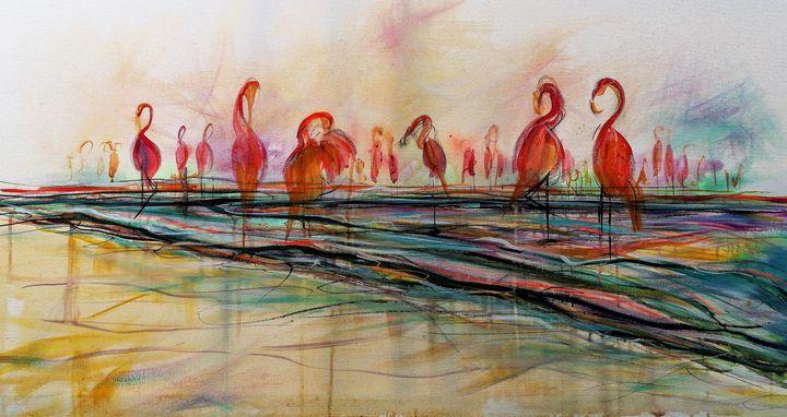Flamingos - imaginart