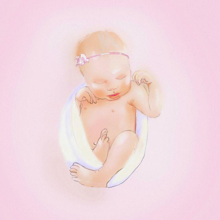 Newborn Baby Girl - imaginart
