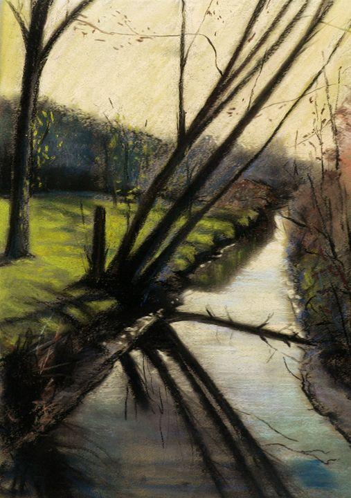 Spring creek reflection - imaginart