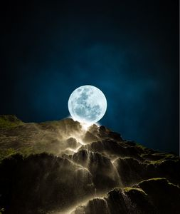 Moonlight river fall