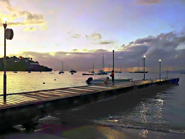Pier at sunset - imaginart