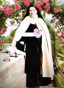 Sainte Thérèse  dans la Roseraie