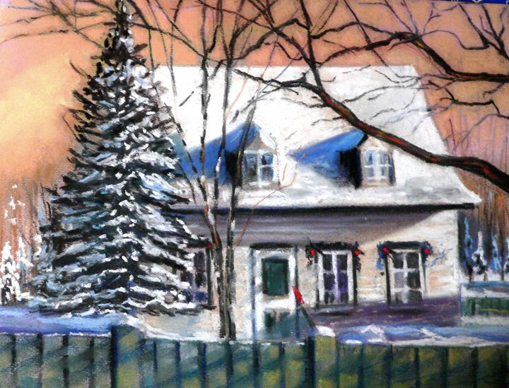 A Christmas house decoration - imaginart