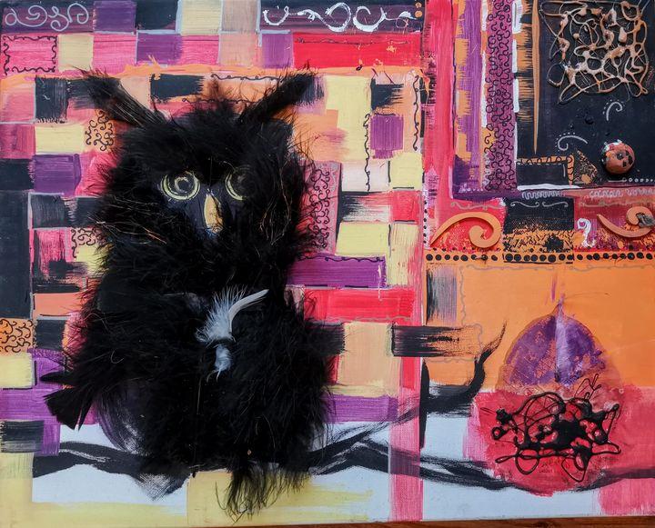 Black owl - imaginart