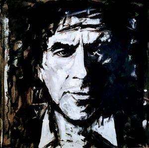 Man's portrait in black