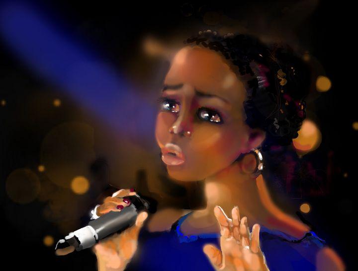 Soul Blues singer - imaginart