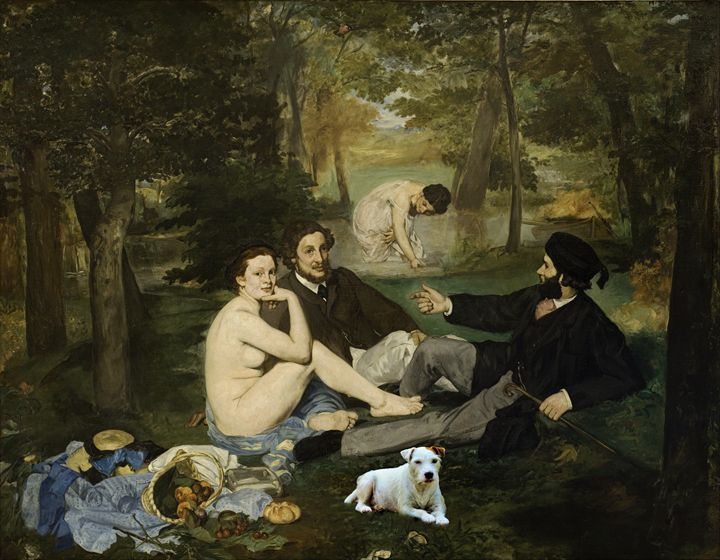 Dog in Manet's masterpiece - imaginart