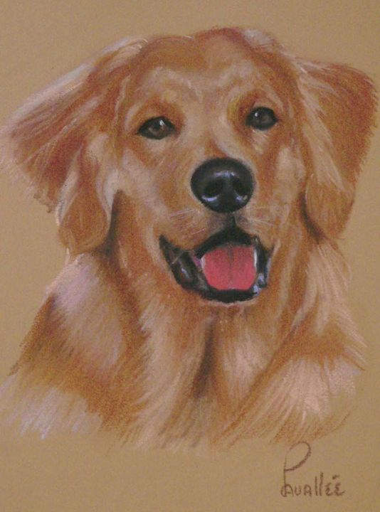 Golden pastel portrait - imaginart
