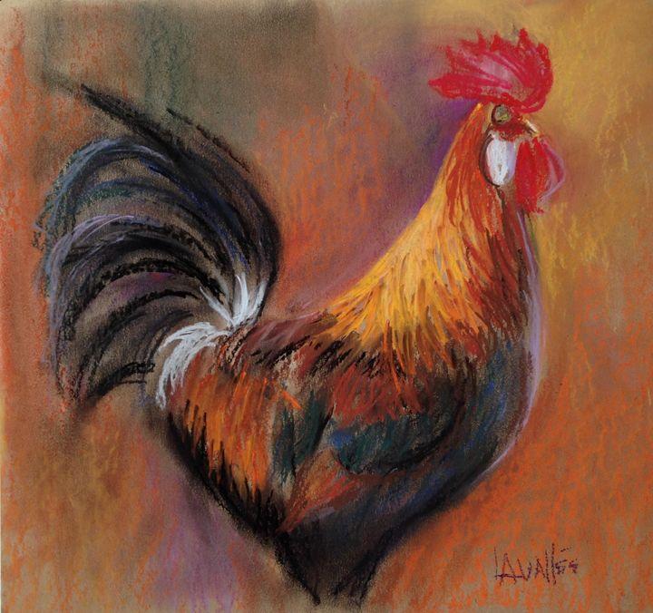 Hen pastel painting - imaginart