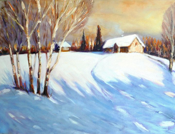 Winter landscape - imaginart