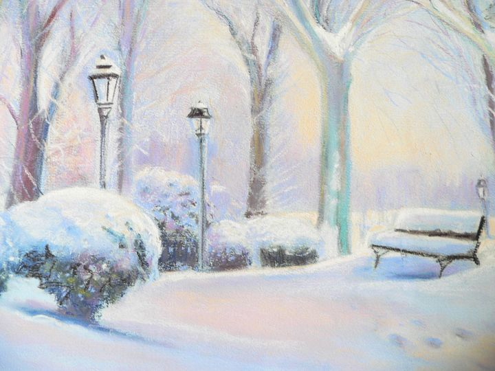 Snowy day in the park - imaginart