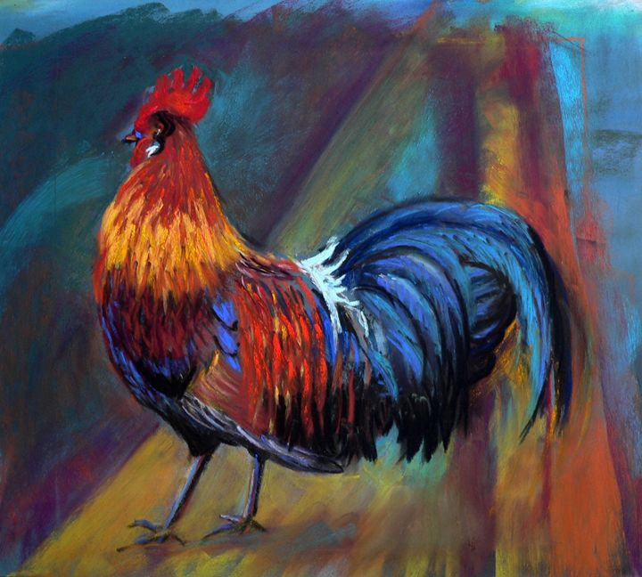 Colorful rooster - imaginart