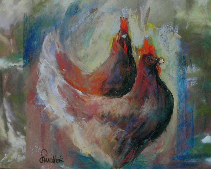Two hens - imaginart