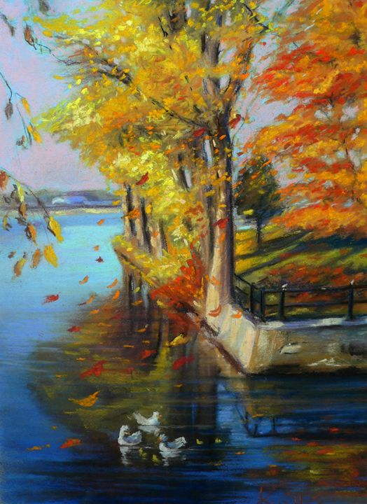 Colorful autumn on the River - imaginart