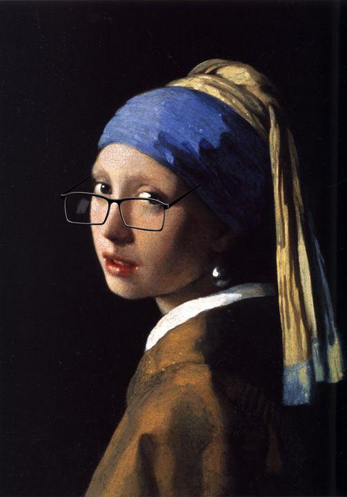 Vermeer 's Girl wearing glasses - imaginart